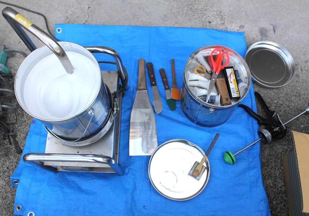 シール専門の道具