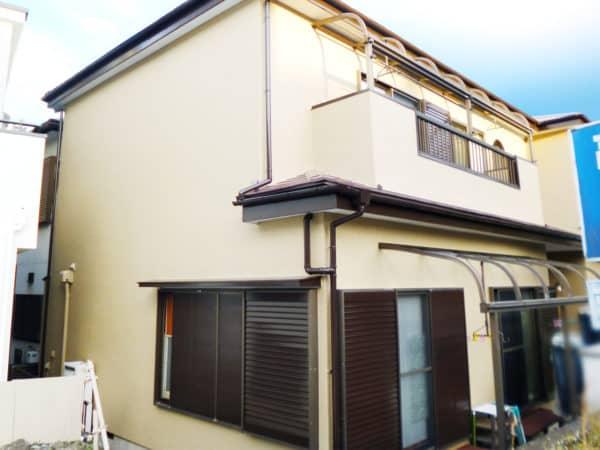 横浜市のモルタル外壁の戸建て塗り替え