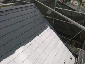 スレート屋根 中塗り