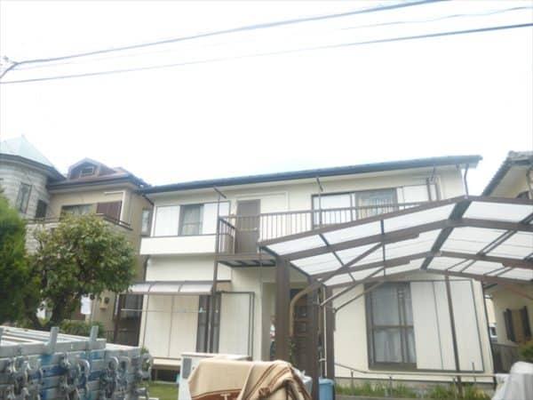 横浜市のモルタル戸建て塗装 屋根や付帯部も!