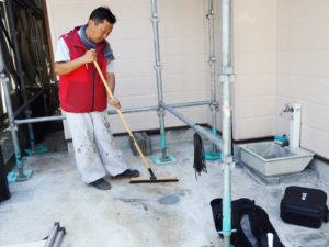 掃除と塗り残しのチェック