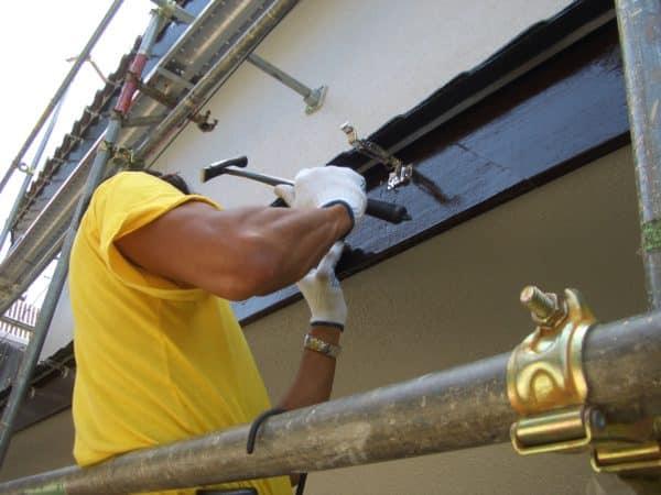 12年後にもご注文頂いたお家の塗装、雨樋と金具も交換し外壁と木部塗装も完了です。