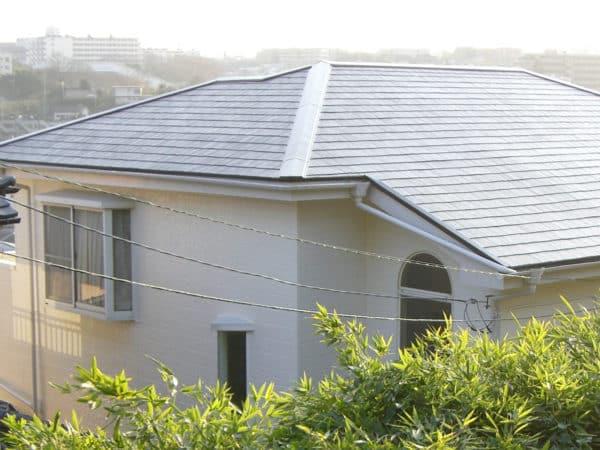 スレート屋根のコケ・カビ類を根こそぎ削り落す高圧洗浄とおまけ的なバイオ洗浄?