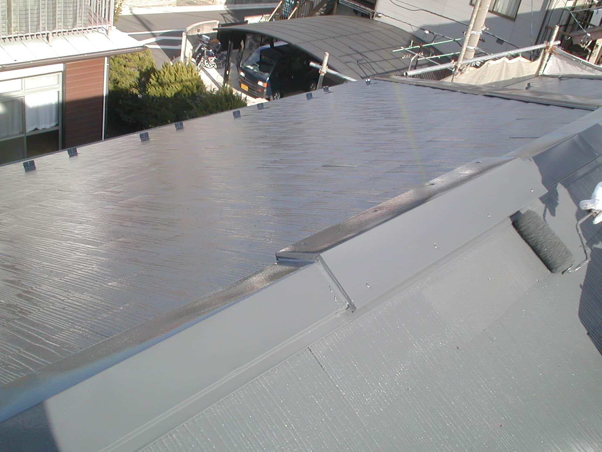 光沢ある屋根