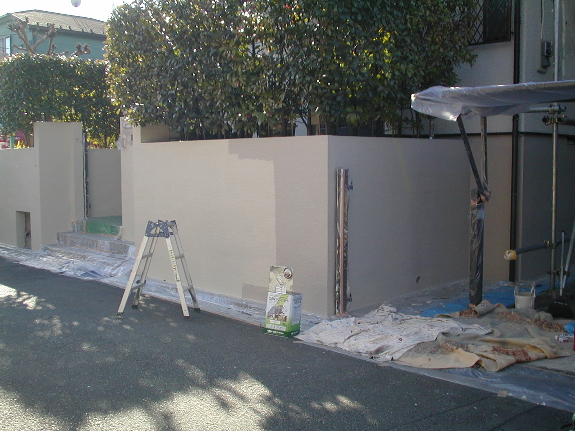 門塀の塗装