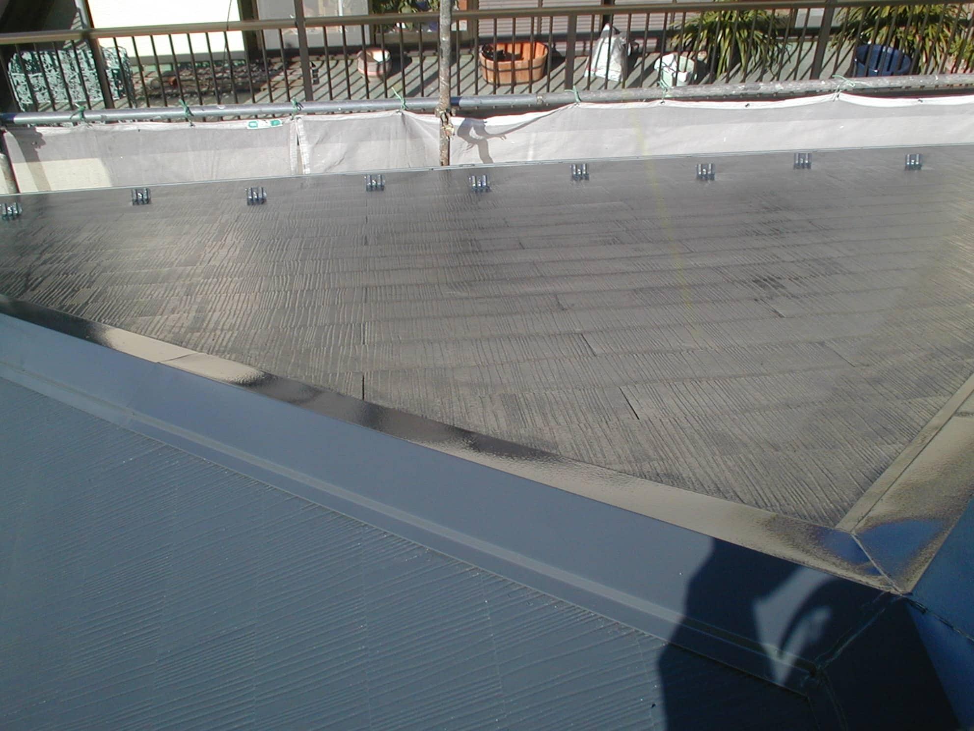 上塗り完了の屋根