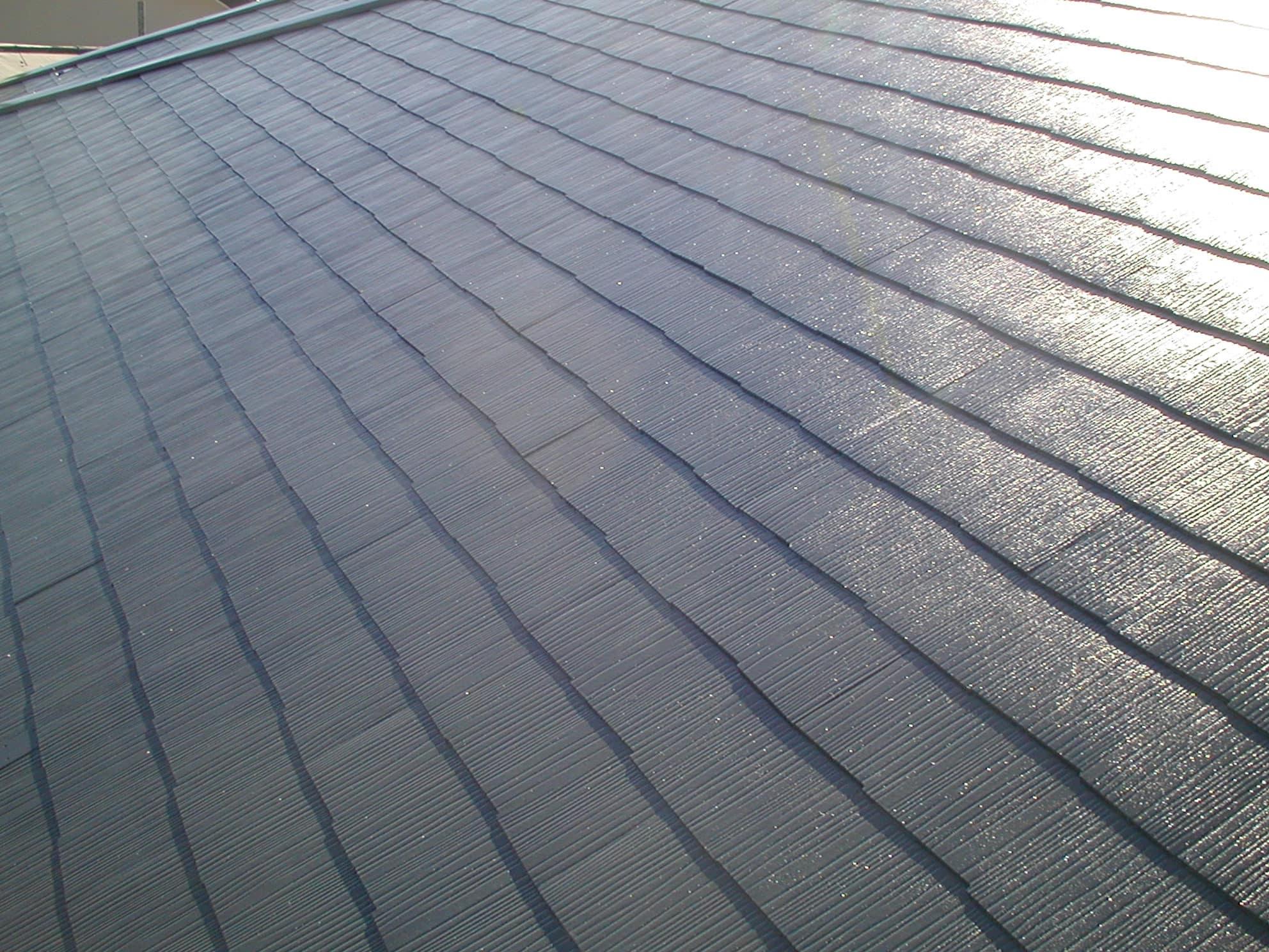 屋根の中塗り完了