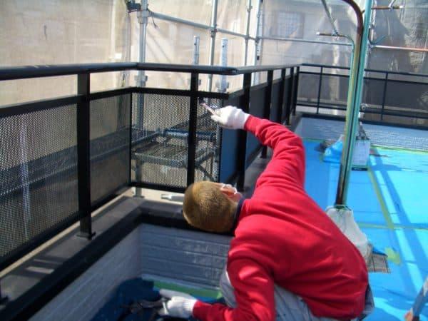 釘の出ていた外壁を補修、屋根の塗替え