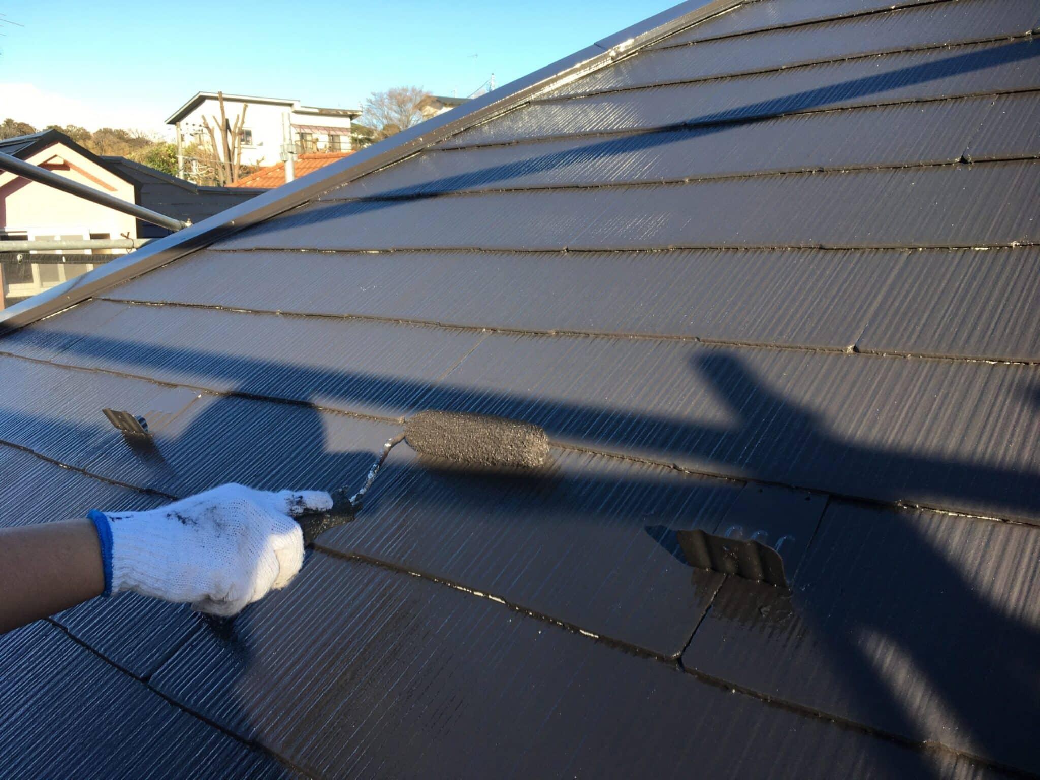 屋根ローラー塗装