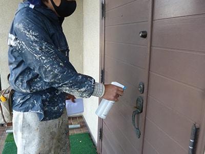 玄関の消毒