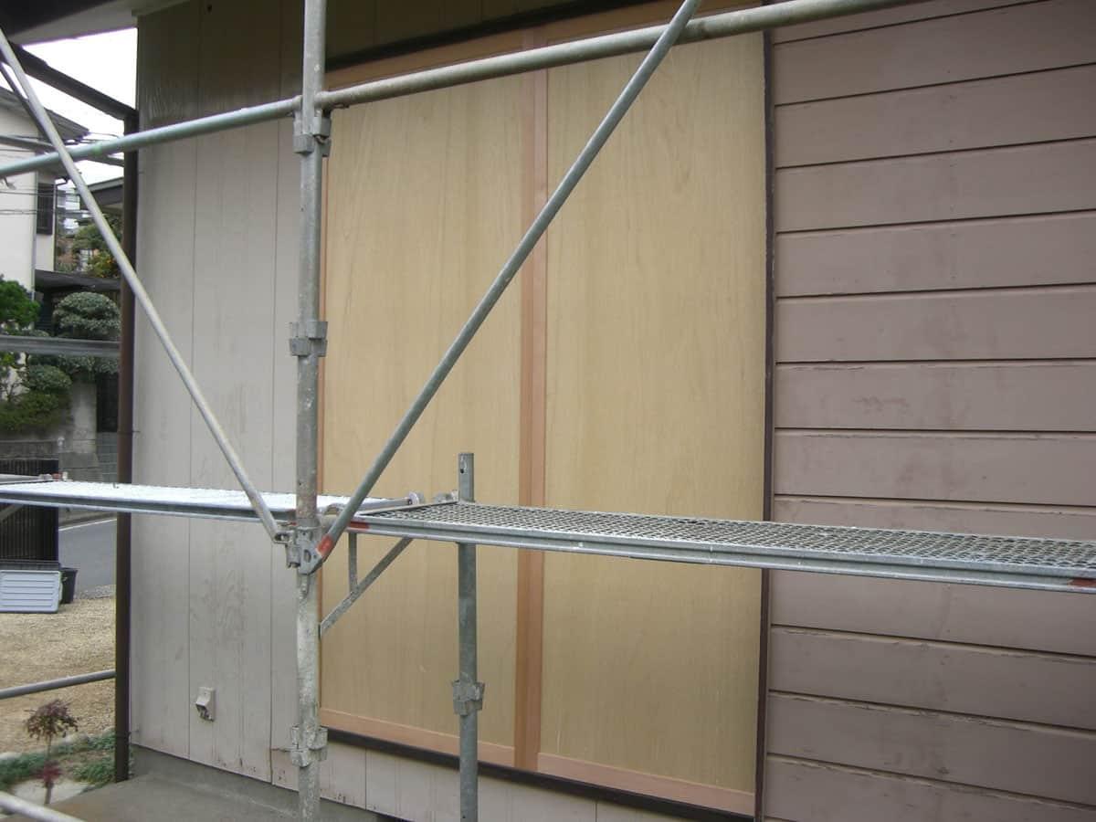 木製雨戸新品交換後