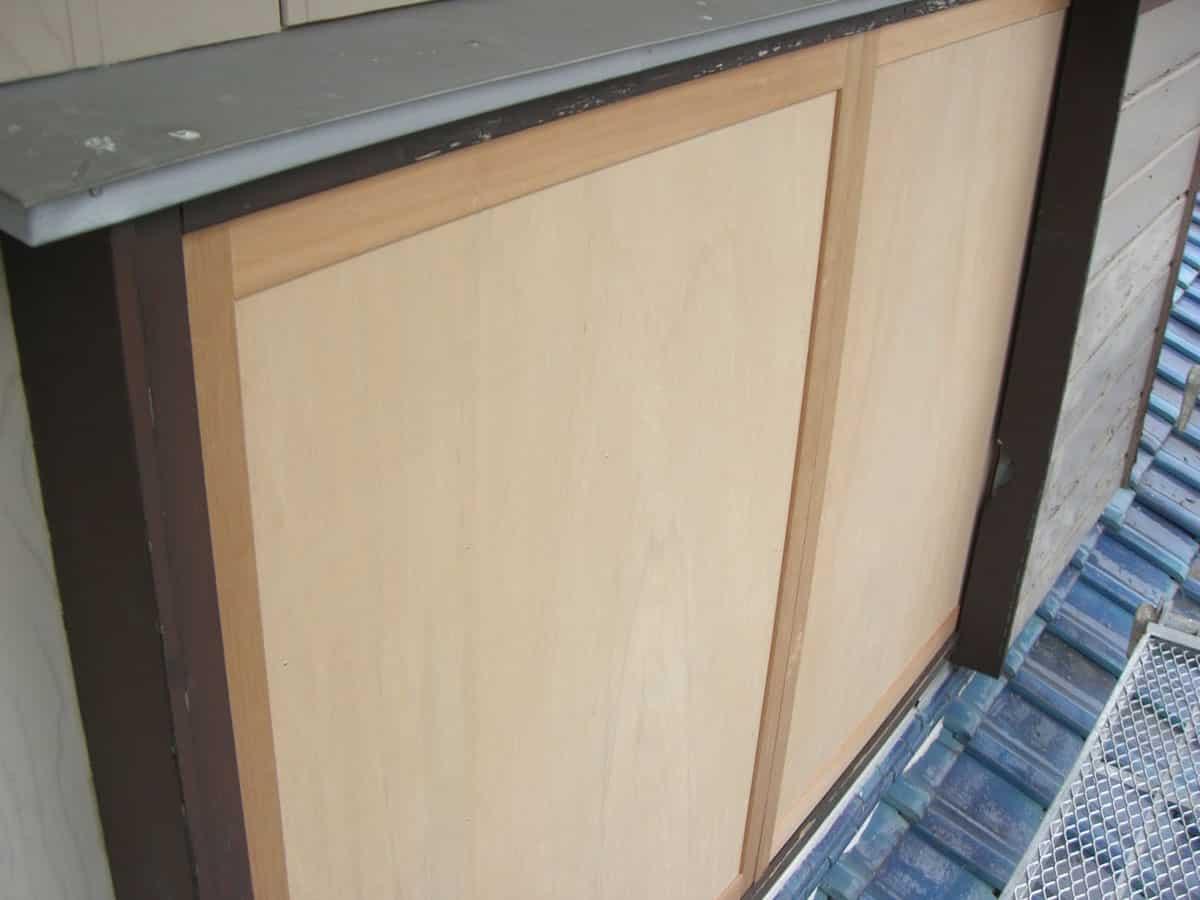 木製雨戸新品交換
