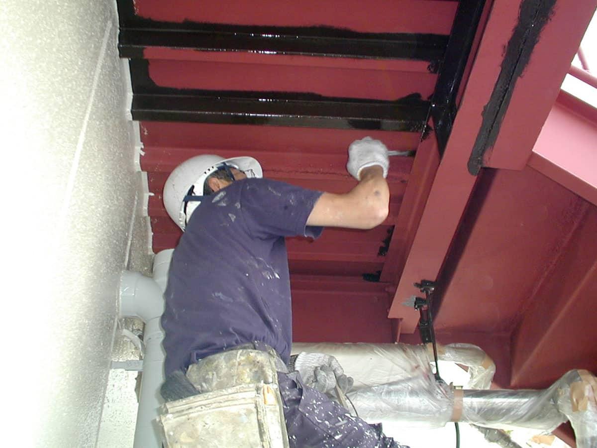 鉄階段の塗装