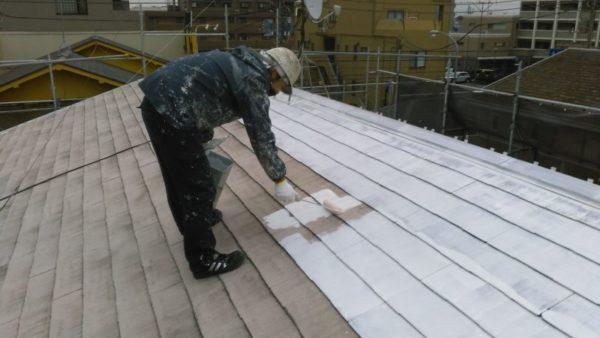 アパートの屋根塗装で