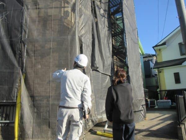 塗装職人の現場と職人の人柄を見て外壁塗装のご依頼をいただきました