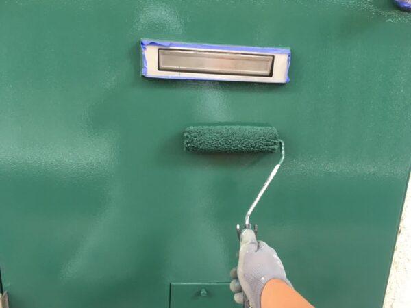集合住宅のドア塗装 お客様と綿密なお打ち合わせと心温まるお礼状