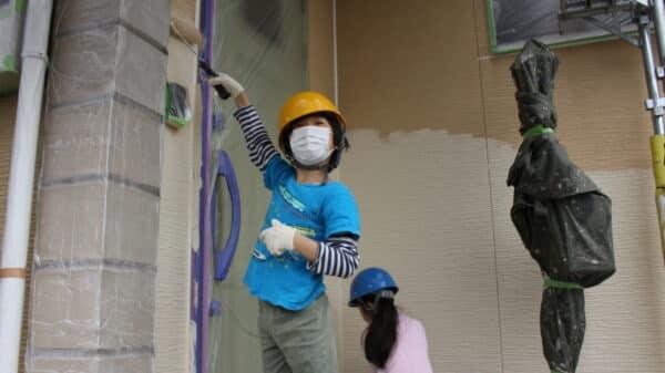 お家の塗装体験で広がる子供たちの夢